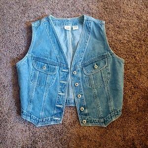 Gap women's cropped asymmetrical denim vest